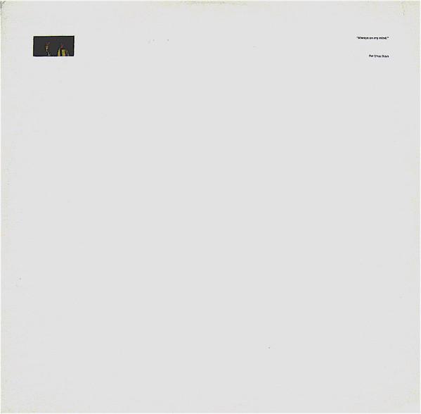 PET SHOP BOYS - ALWAYS ON MY MIND (12'' SINGLE) - Pet Shop Boys - Always On My Mind (12'' Single) - 12 inch 45 rpm