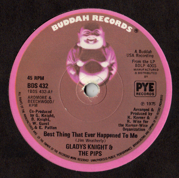 GLADYS KNIGHT & THE PIPS* - BEST THING THAT EVER H - Gladys Knight & The Pips* - Best Thing That Ever Happened To Me (7'' Sol) - 7inch x 1