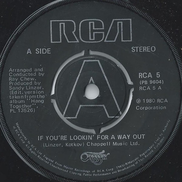 ODYSSEY (2) - IF YOU'RE LOOKIN' FOR A WAY OUT (7'' - Odyssey (2) - If You're Lookin' For A Way Out (7'' Single 4 P) - 7inch x 1