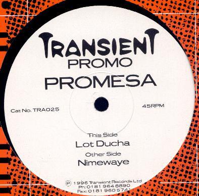 Promesa - Nimewaye / Lot Ducha (12'' Promo) - Promesa - Nimewaye / Lot Ducha (12'' Promo) - Maxi 45T