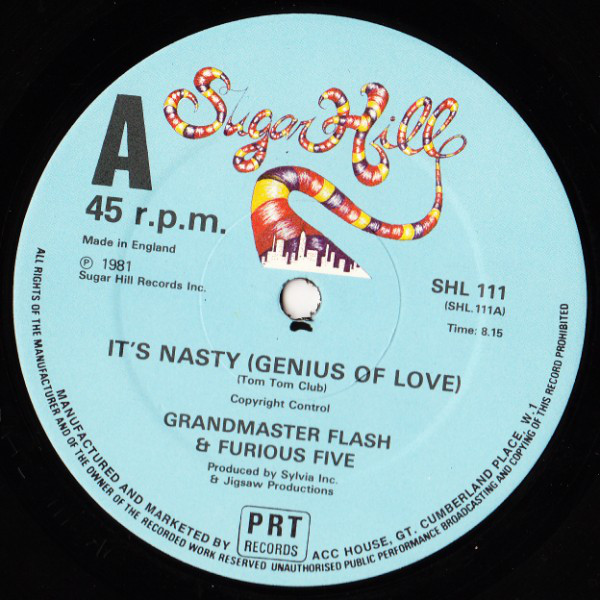 GRANDMASTER FLASH & FURIOUS FIVE* - IT'S NASTY (GE - Grandmaster Flash & Furious Five* - It's Nasty (Genius Of Love) / The Birthday Party (12'') - 12 inch 45 rpm