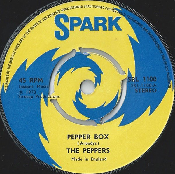 THE PEPPERS - PEPPER BOX (7'' PUS) - The Peppers - Pepper Box (7'' Pus) - 7inch x 1