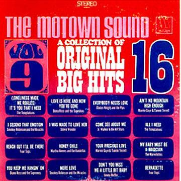 VARIOUS - THE MOTOWN SOUND: A COLLECTION OF 16 ORI - Various - The Motown Sound: A Collection Of 16 Original Hits Vol. 9 (LP Comp) - LP