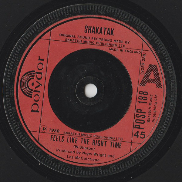 SHAKATAK - FEELS LIKE THE RIGHT TIME (7'') - Shakatak - Feels Like The Right Time (7'') - 7inch x 1
