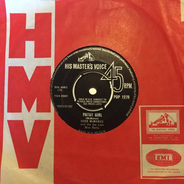 ROSS MCMANUS & THE JOE LOSS BLUE BEATS - PATSY GIR - Ross McManus & The Joe Loss Blue Beats - Patsy Girl (7'' Single) - 7inch x 1