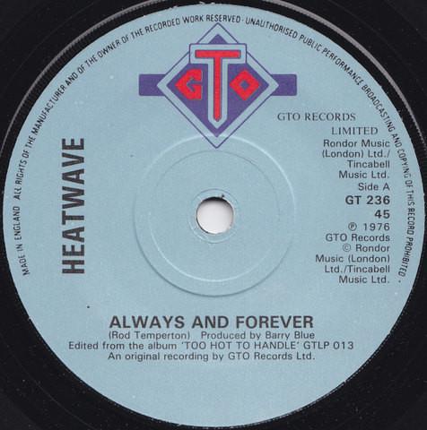 HEATWAVE - ALWAYS AND FOREVER (7'' SINGLE) - Heatwave - Always And Forever (7'' Single) - 7inch x 1