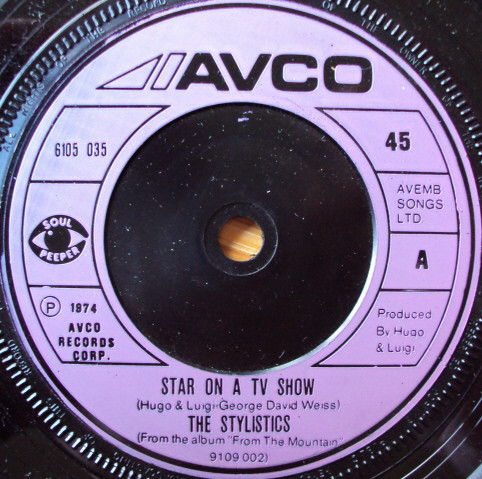 THE STYLISTICS - STAR ON A TV SHOW (7'' SINGLE) - The Stylistics - Star On A TV Show (7'' Single) - 7inch x 1