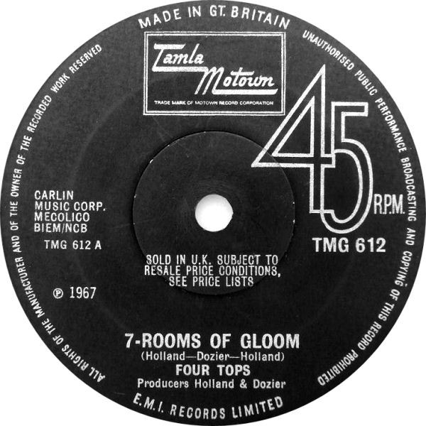 Four Tops - 7-Rooms Of Gloom (7'' Sol) Four Tops - 7-Rooms Of Gloom (7'' Sol)
