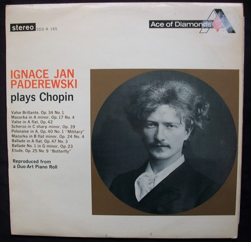 Ignace Jan Paderewski Plays Chopin