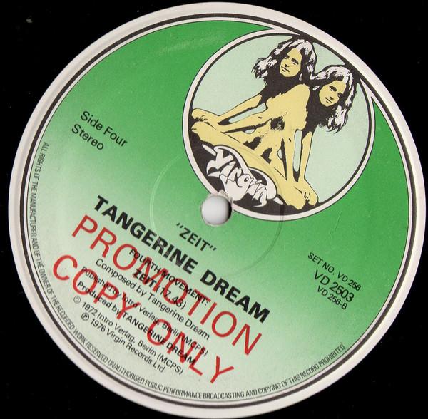 tangerine dream - zeit (2xlp album promo uk ) tangerine dream - zeit (2xlp album promo uk )