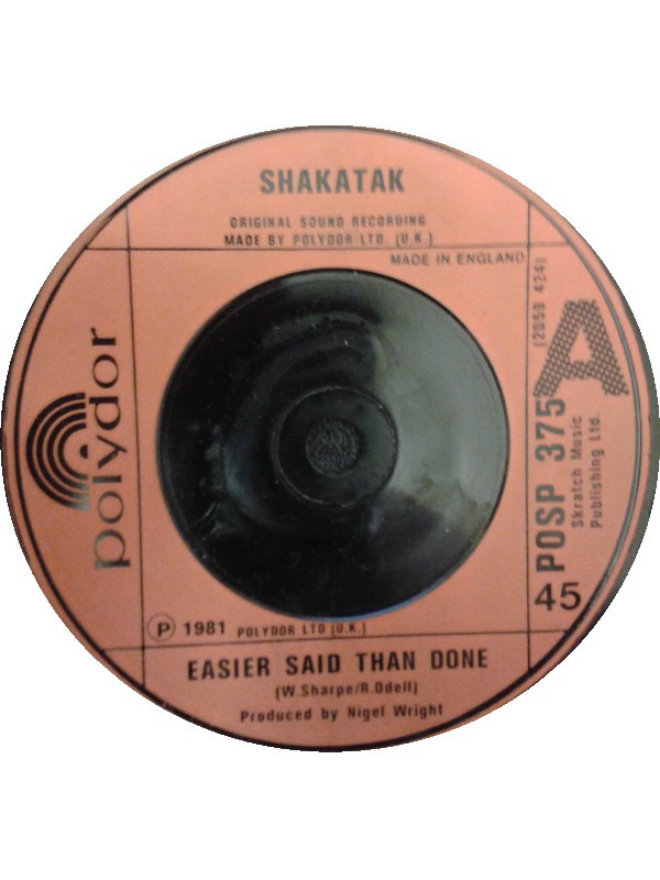 SHAKATAK - EASIER SAID THAN DONE (7'' RED) - Shakatak - Easier Said Than Done (7'' Red) - 7inch x 1